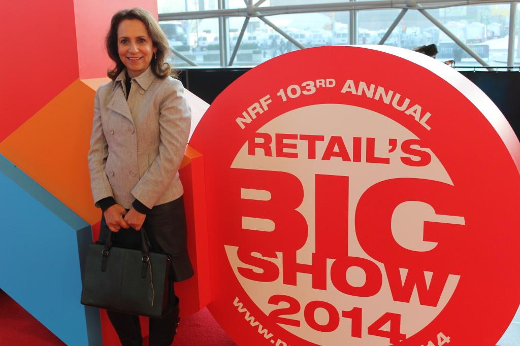 Vera Zaffari, diretora da VZA, participa da Retail`s Big Show 2014 em Nova York.